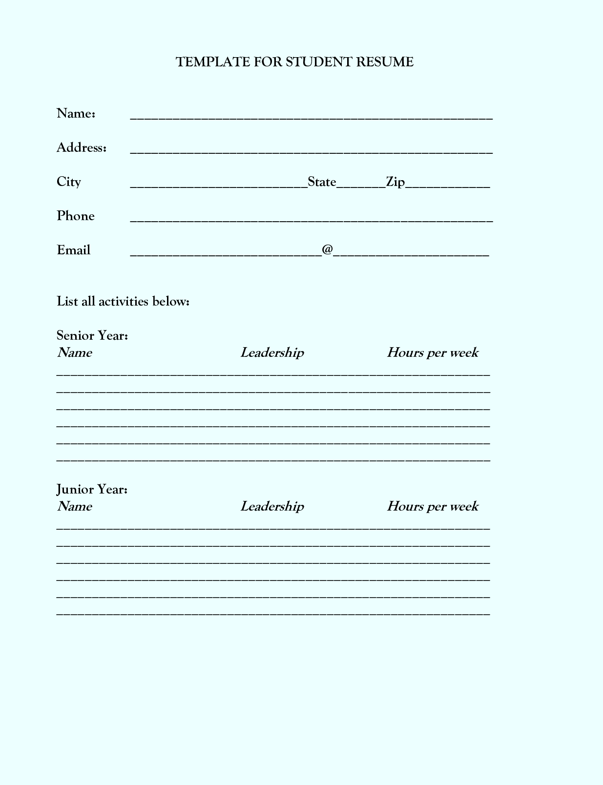 Google Docs Resume Template - http://www.latestresume.info/google ...