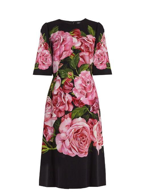Dolce & Gabbana Woman Floral-print Crepe Mini Dress Black Size 38 Dolce & Gabbana Latest Cheap Online mKBCvo