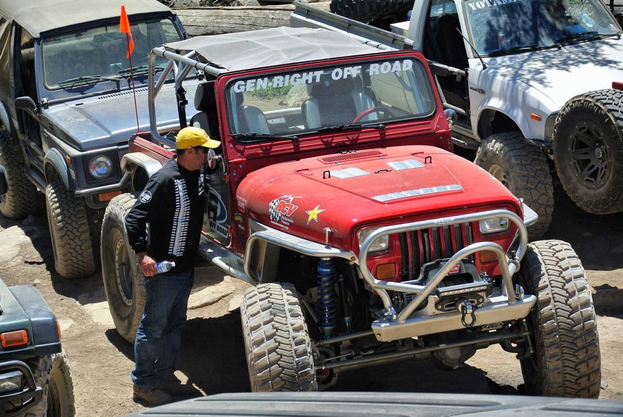 Tony Pellegrino And The Genright Red Jeep Yj Out At The Big Bear Forest Fest 2013 Jeeping And Off Roading Jeep