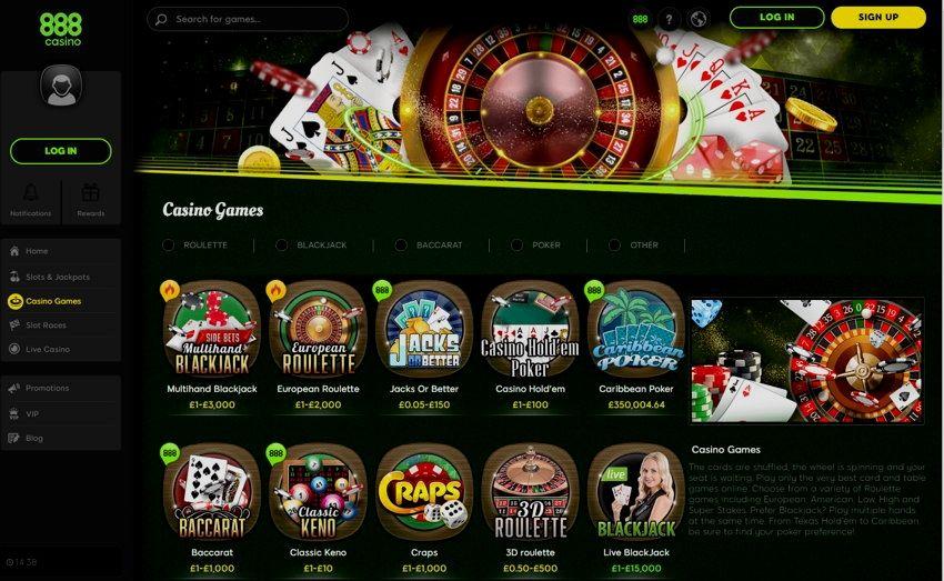Casino On Net 888 Free Games