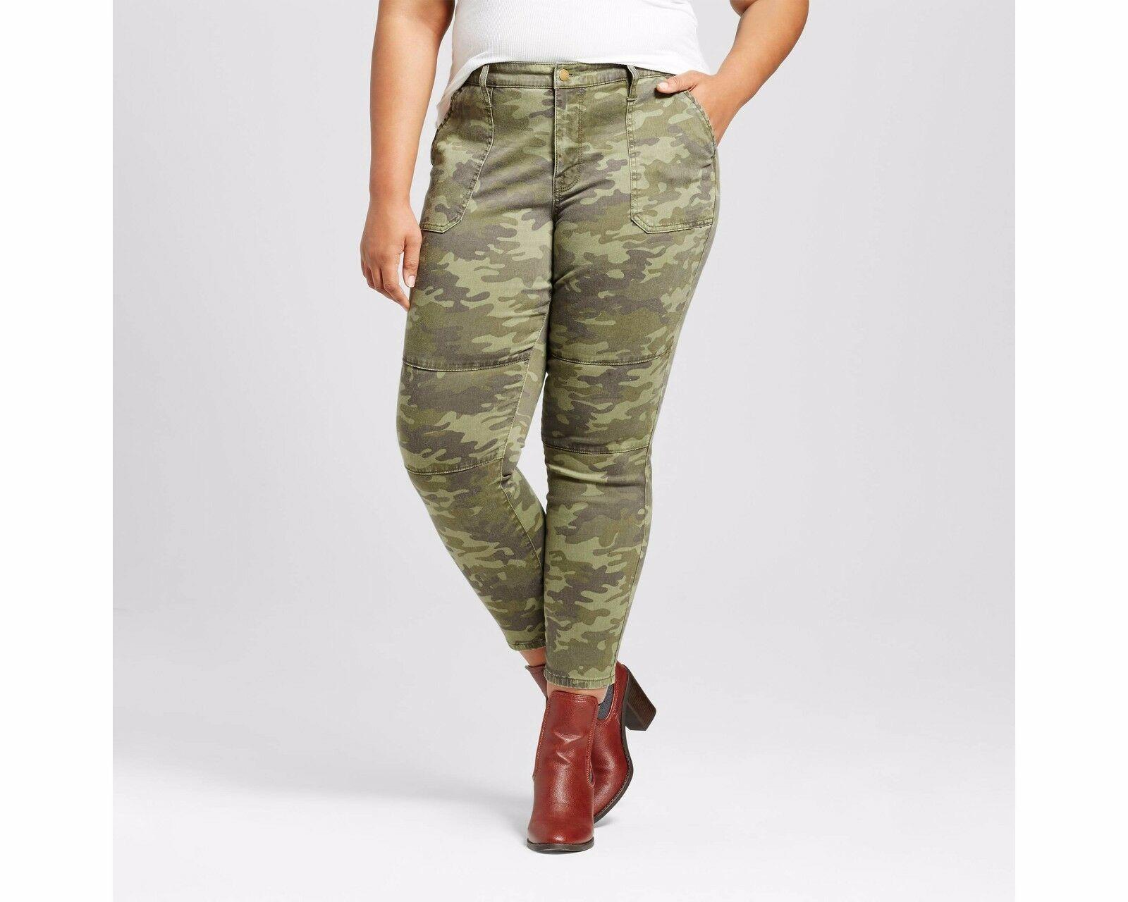 Ava /& Viv Women/'s Plus Size Stretch Skinny Jeans Olive Color Various Sizes