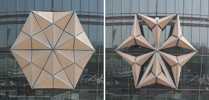 These Towers Have Shape-Shifting Sunshades That React To Sunlight #beautifularchitecture