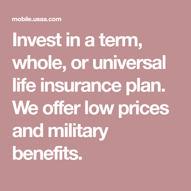 Invest in a term, whole, or universal life insurance plan ...
