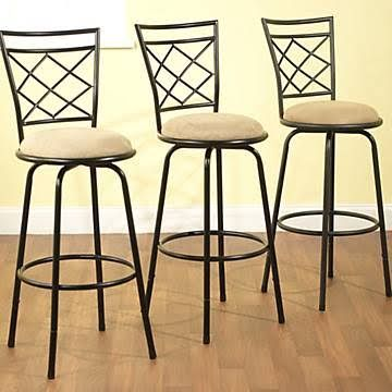b5d31c50ab64 TMS Avery Adjustable Metal Barstools, 3-Piece Set, Black | Youth ...
