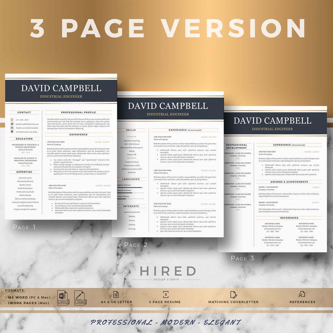 Engineer resume template engineering resume cover