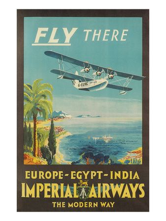 Vintage TEAL Seaplane Flights to New Zealand Poster A3//A4 Print