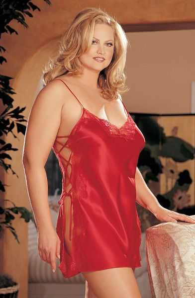 5ceae9fb580 Plus size sleepwear for the fuller figure woman up to (UK. Shirley of  Hollywood SoH-IA X20015 Chemise Red