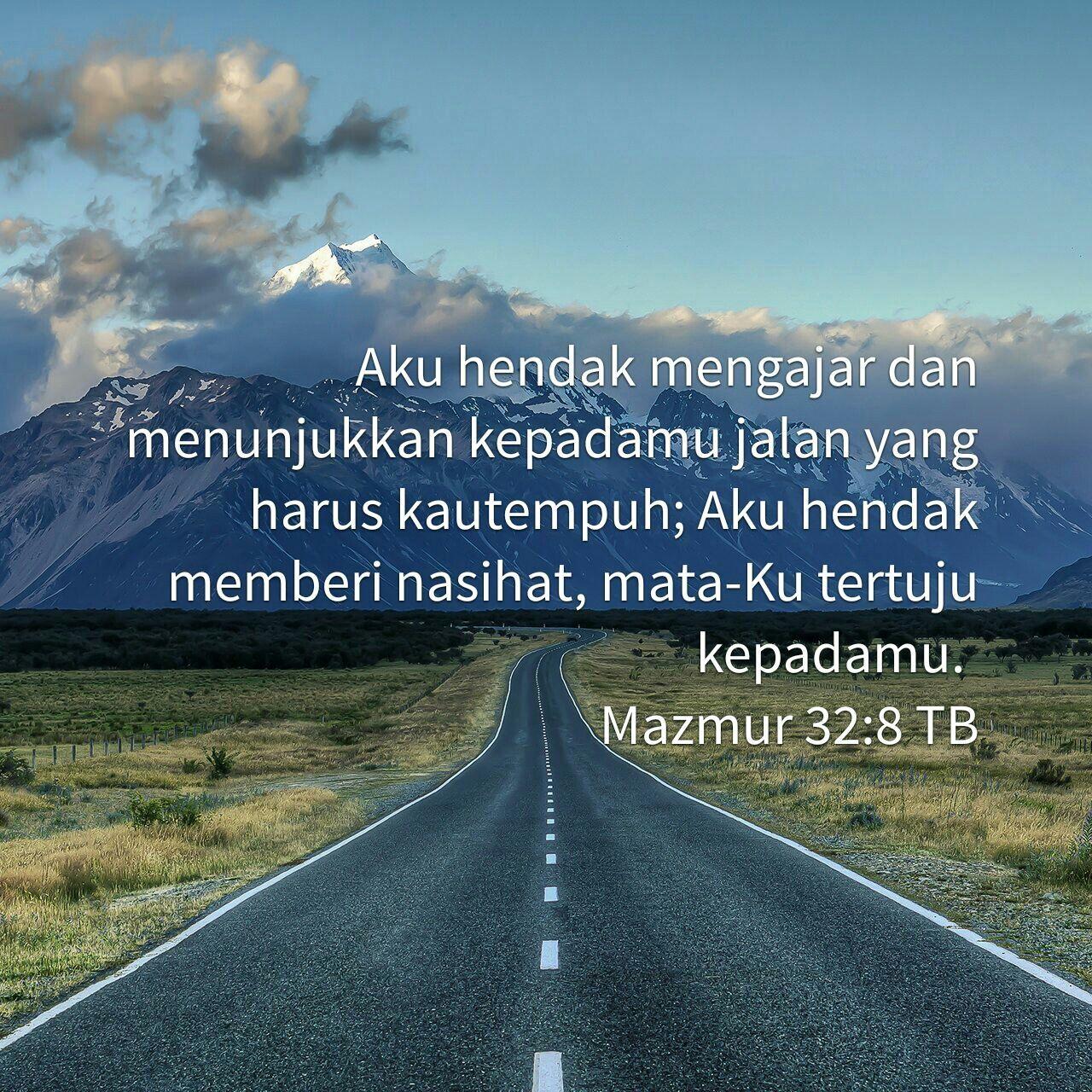 Psalm 32 8 In Bahasa Indonesia Mazmur Amsal Alkitab