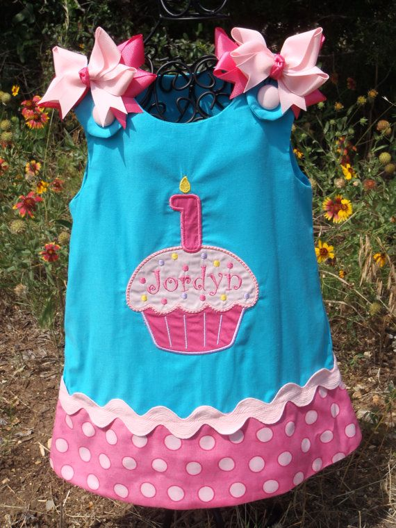 46fe3817dc1f Need to find birthday outfit....Girls Sprinkle Cupcake Candle Aline ...