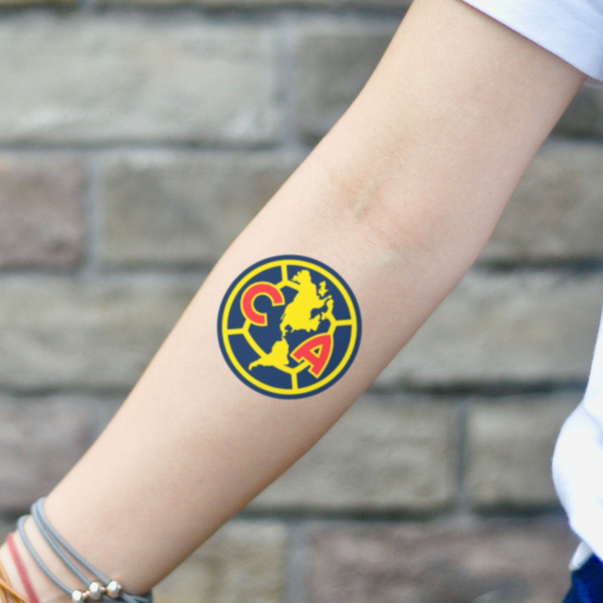 Club America Temporary Tattoo Sticker (Set of 2) in 2020