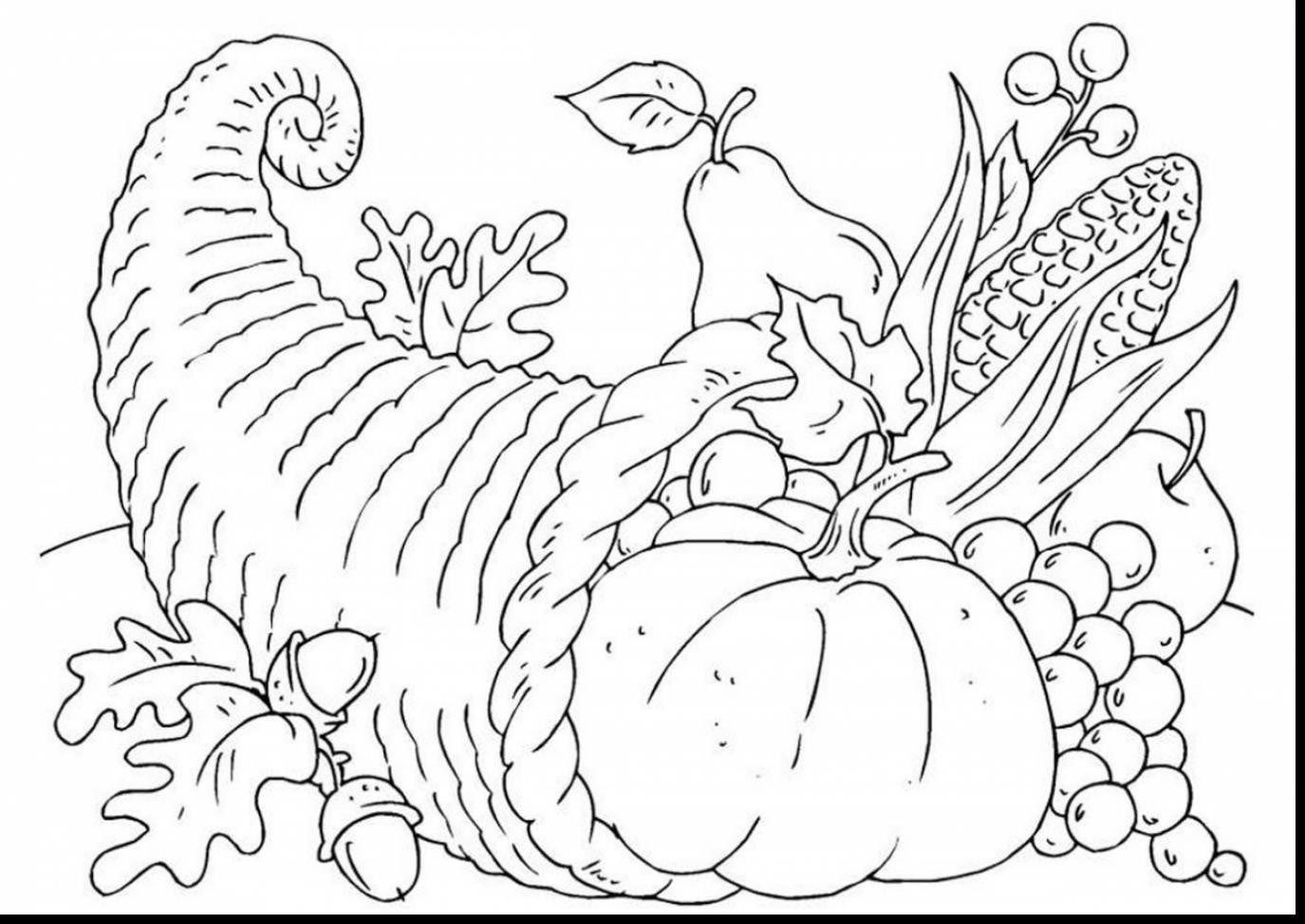 25+ Creative Image of Cornucopia Coloring Pages