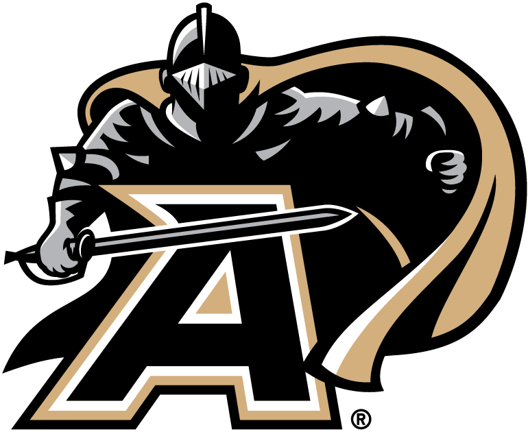 Army Black Knights Primary Logo 2000 Black Knight Over An A With Sword Drawn Army Black Knights Army Black Knights Football Army Football