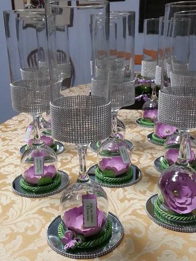 Centros de mesa elegantes Decoracion Mesa Principal 15 Años