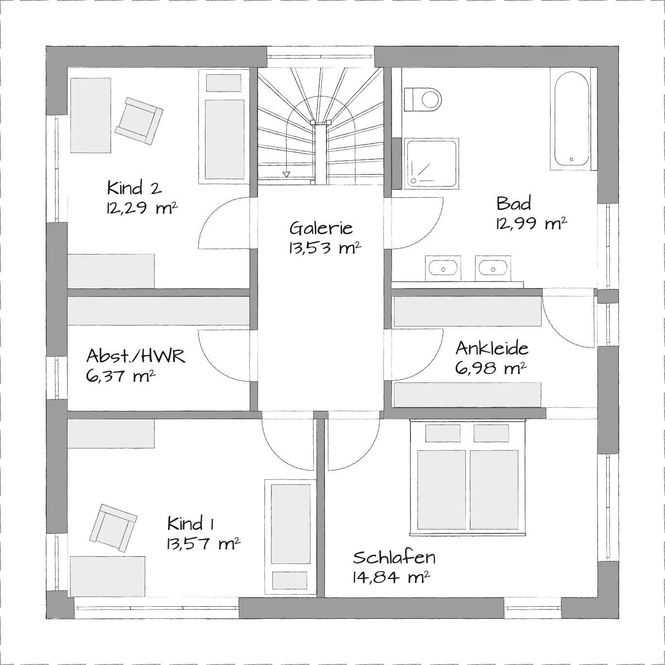 Stadtvillen SETROS Fertighäuser, Haus und Grundriss