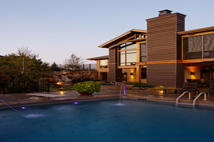 Landscaping, Pool, Contemporary exterior