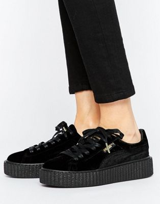 puma creepers gris velours