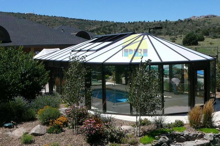 Nc swimming pool enclosures retractable pool enclosures - Retractable swimming pool enclosures ...