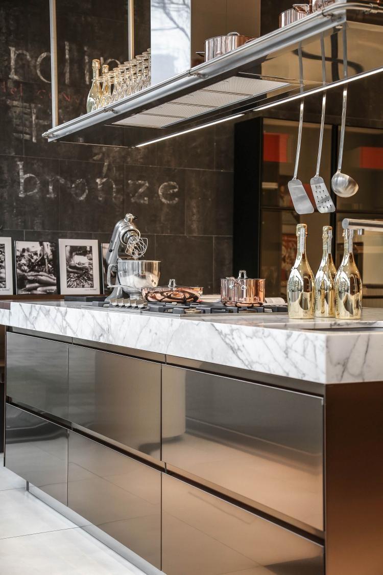 Best 25 Super Modern Stainless Steel Kitchen Cabinet Design 400 x 300
