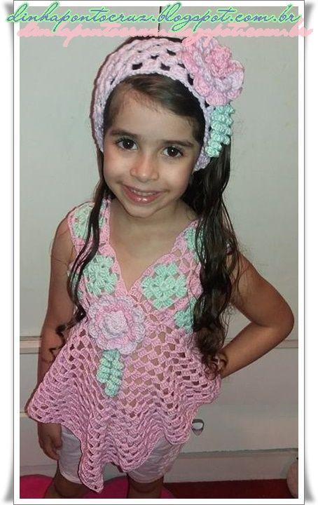 Dinha Ponto Cruz: Crochê infantil Candy Colors