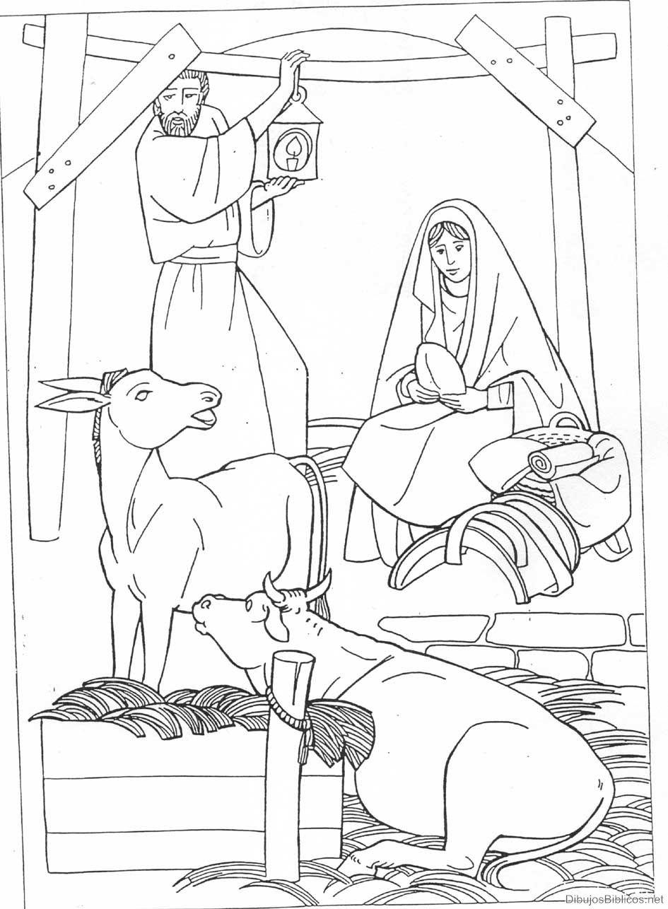 kleurplaat jezus geboren kleuters belenes dibujos