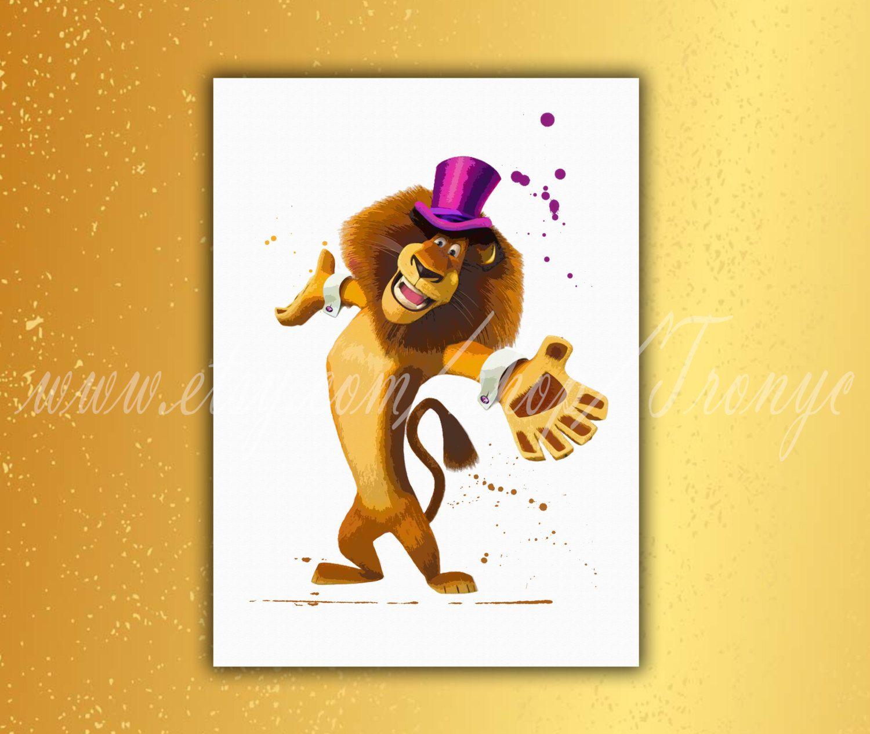 Madagascar printable poster, Alex Lion, Madagascar print, Madagascar ...