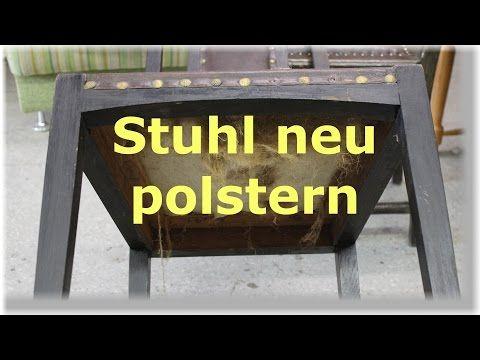 Einen Stuhl selbst neu beziehen Tag 250 YouTube | Aus