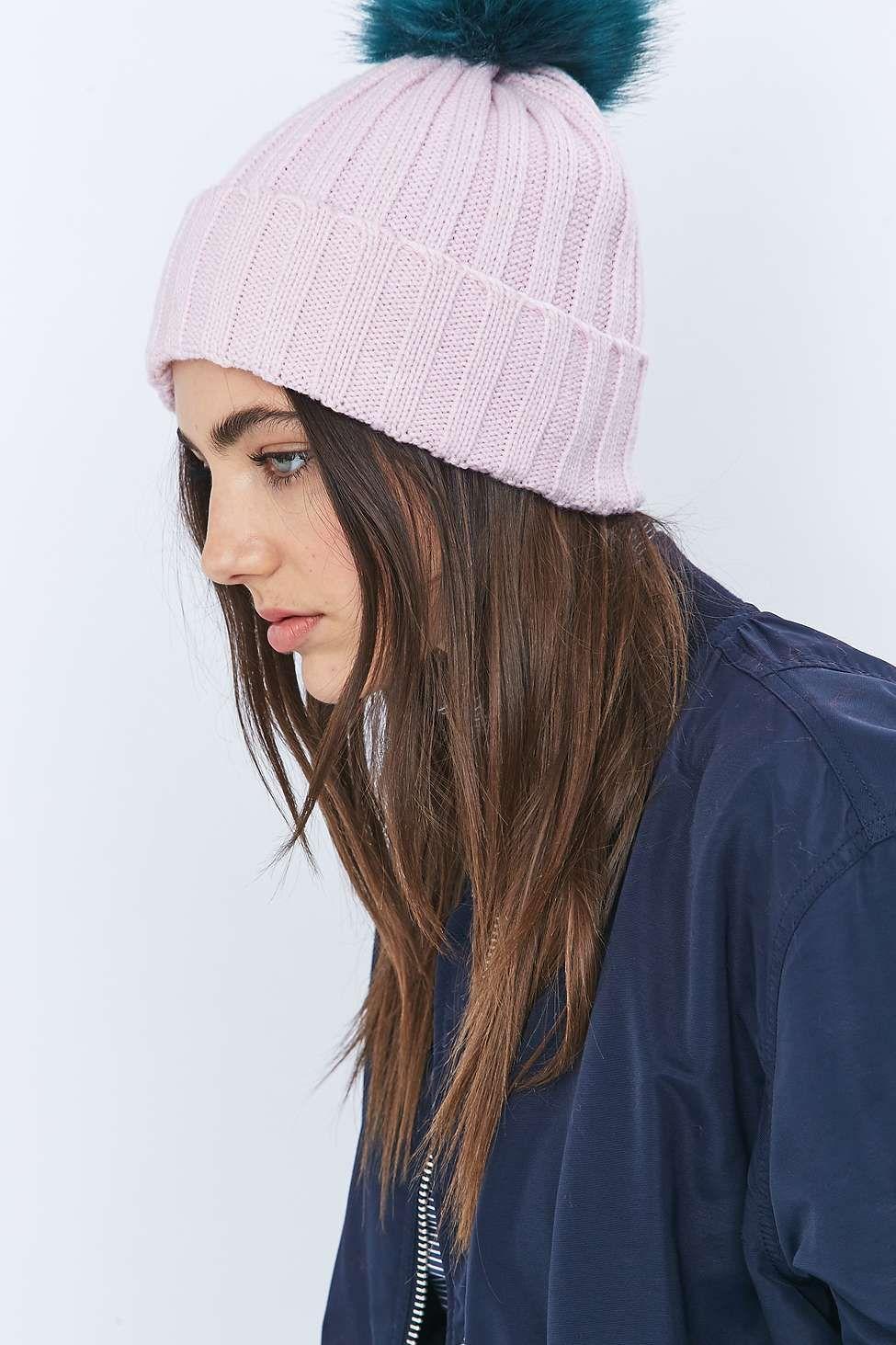 8508aa3c47c Fur Pom-Pom Bobble Hat