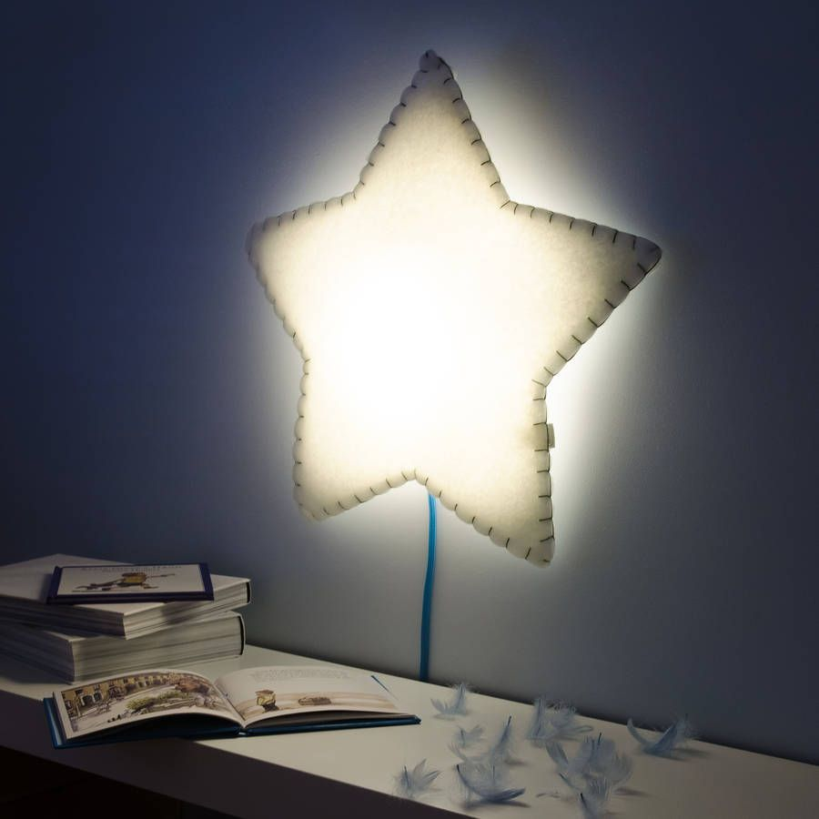 Soft Sched Star Wall Light