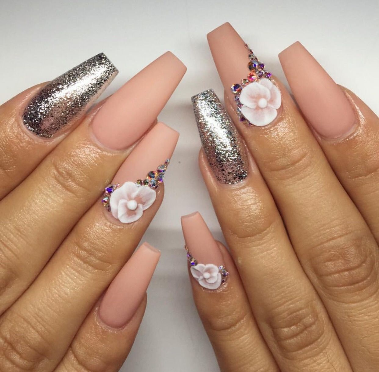 Pin by Grey on Uñas Coffin | Pinterest | Coffin nails, Nude nails ...