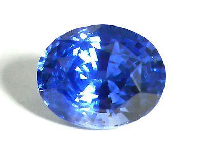 281 Cts Certified Loose Ovat Cut Deep Cornflower Blue Sapphire Gemstone 17548