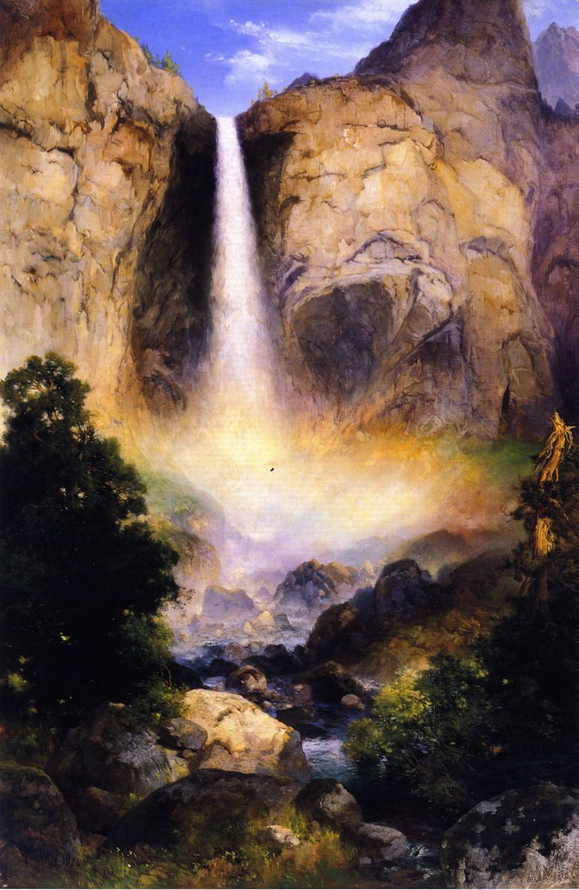 Bridalveil Fall, Yosemite Valley Thomas Moran 1904