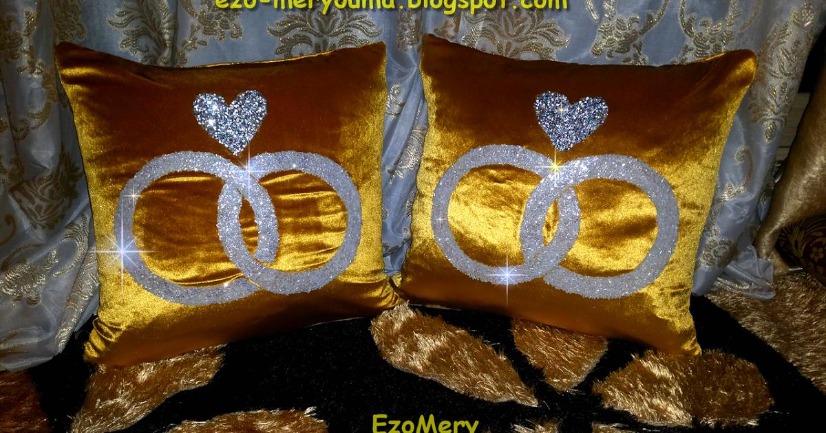 How To Make A Cute Wedding Cushion خطوات سهلة لخياطة وسائد للعرايس و لتزيين الغرف موديل جديد بورق الجيلاتين و الخرز ت Beading Patterns Handmade Pillow Cushion