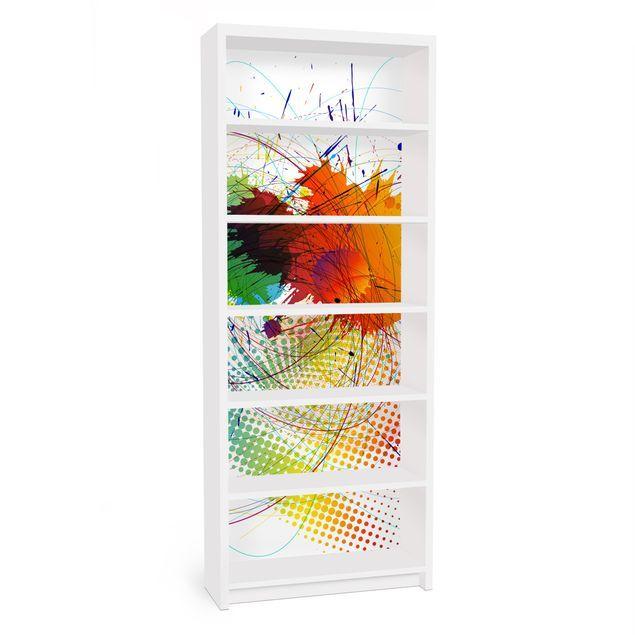 Carta adesiva per mobili IKEA Billy Libreria Rainbow