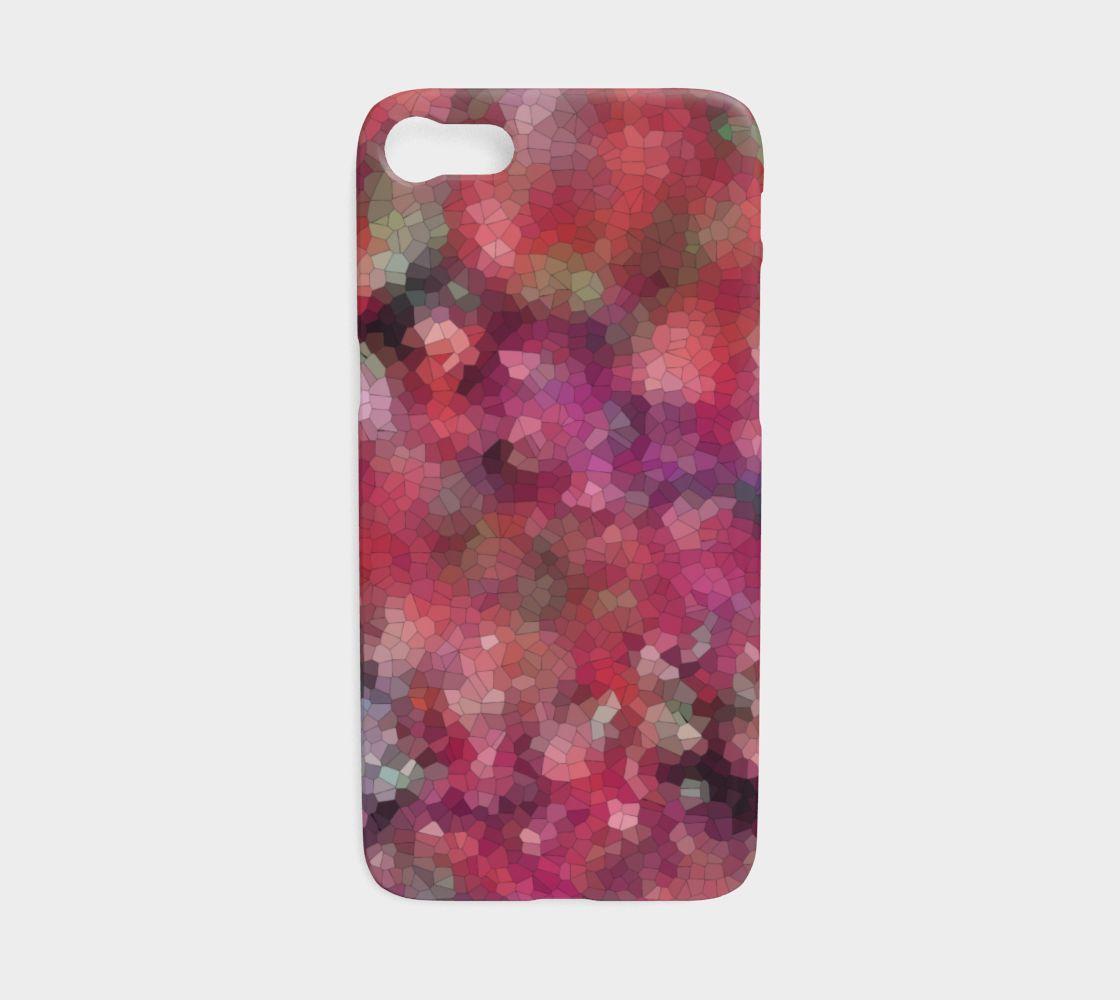 Mosaic Landscape, Rose Garden - Phone Case, iPhone 7