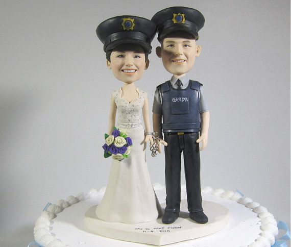 Ireland Police Theme Wedding Cake Topper Funny By