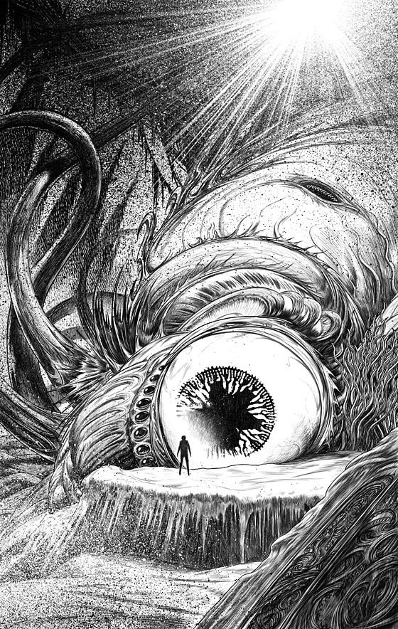 """From """"Lovecraft's Monsters"""" book, 2014 illustrated by John Coulthart"""