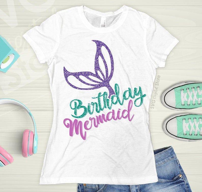 Mermaid Birthday Mermaid svg Birthday girl Girls Mermaid