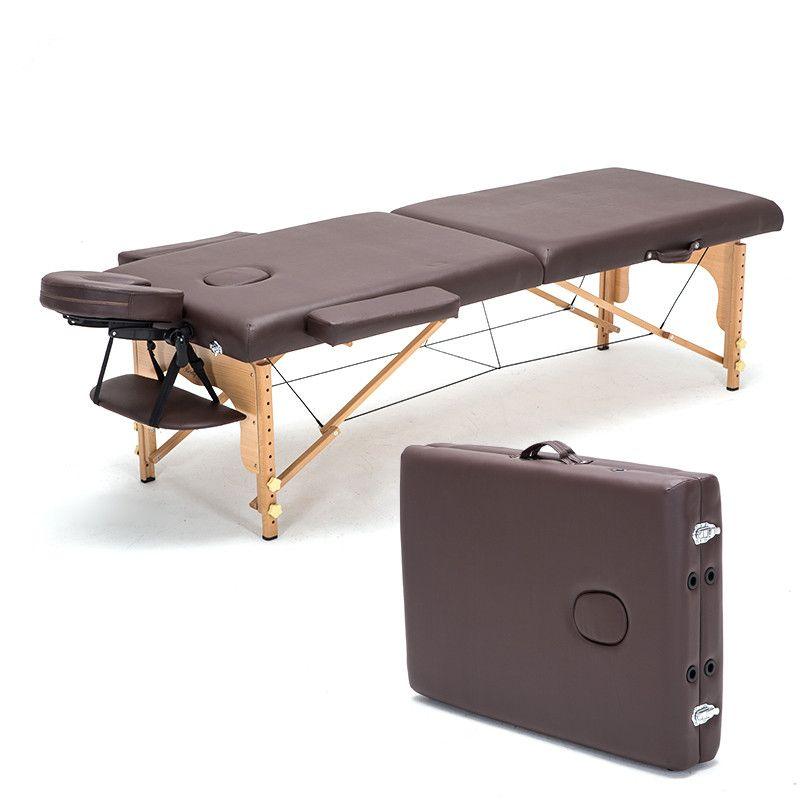 전문 휴대용 스파 마사지 테이블 접이식 Carring 가방 살롱 가구 나무 접이식 침대 아름다움 마사지 테이블