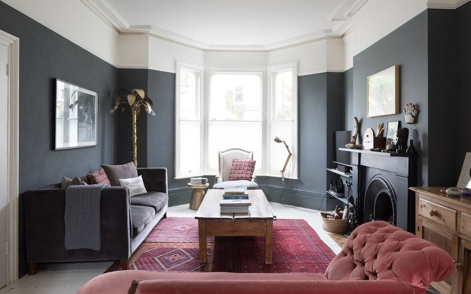 50 Shades Of Grey Inside Top Blogger Kate Watson Smyth S London Home Dark Grey Living Room Living Room Red Living Room Warm