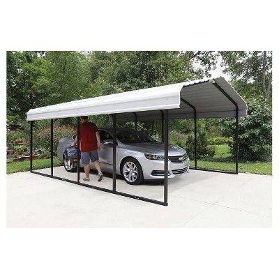 12 X 20 Carport Arrow Storage Products Eggshell Steel Carports Carport Metal Carports