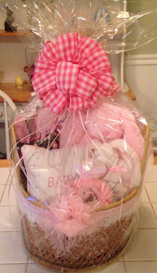 Diy Baby Girl Gift Basket With Images Baby Girl Gift Baskets