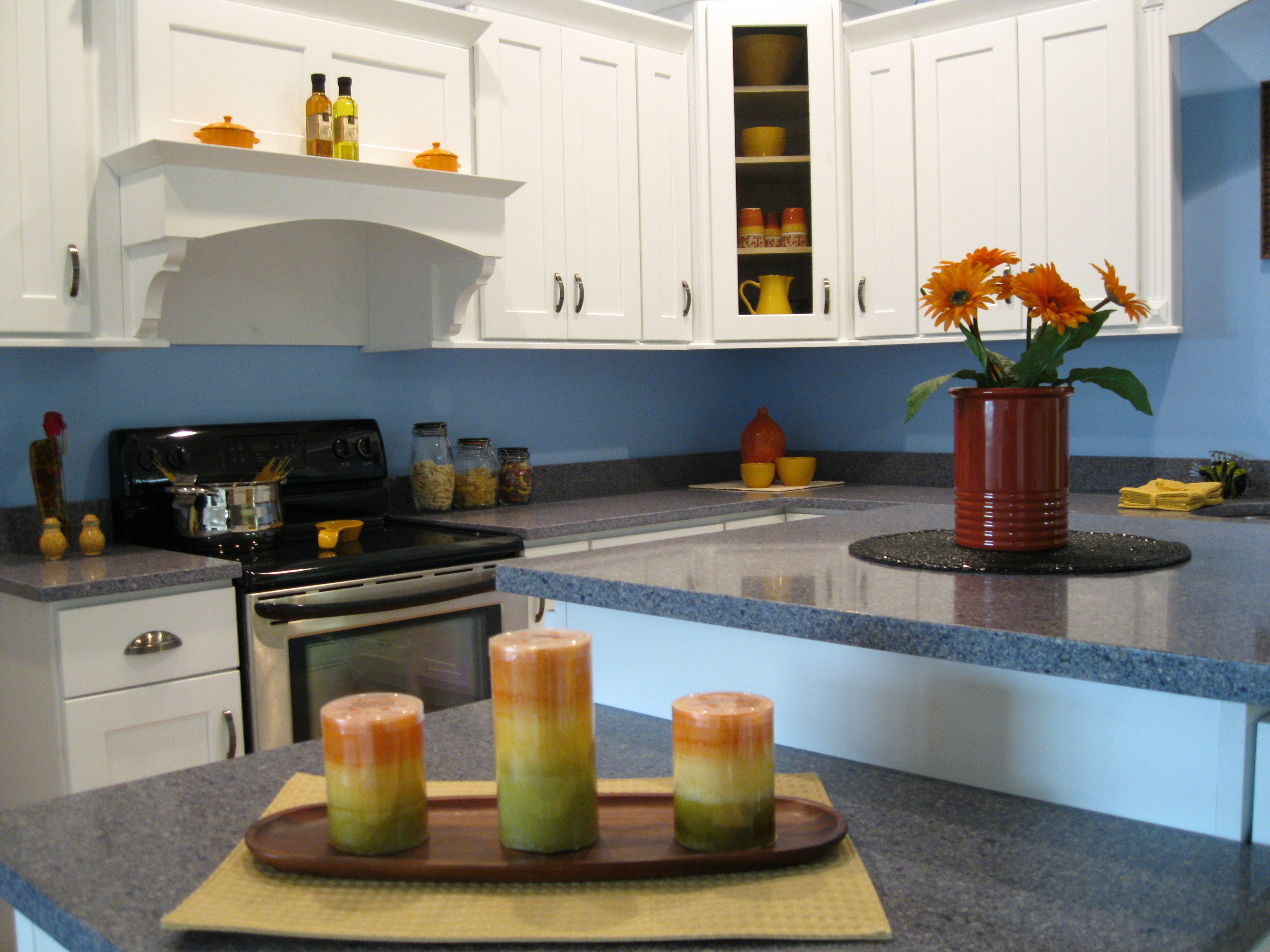 Color For Kitchen Walls With Decorative Candles