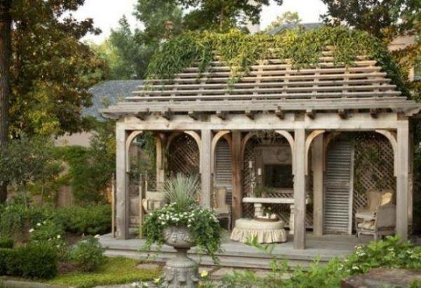 cottage garten design vintage holz gartendomizil. Black Bedroom Furniture Sets. Home Design Ideas