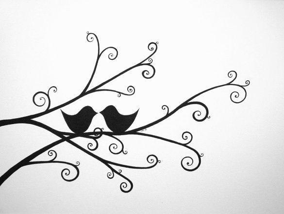 Love Birds Drawing Google Search Bird Art Pinterest Drawings