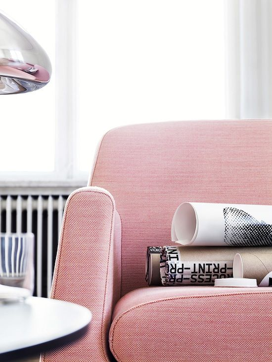 cool pink sofa #homedecor #interiordesign #livingroom | Home ...