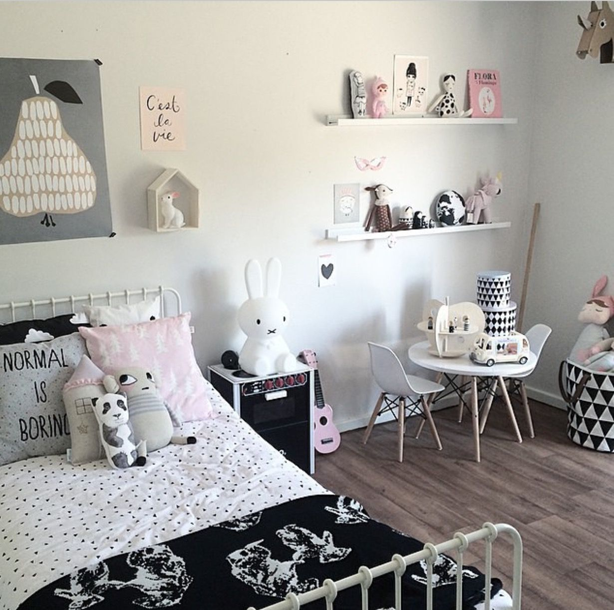 normal kids bedroom. Sweet Grey, Black And Pink Room For Little Girl Normal Kids Bedroom O