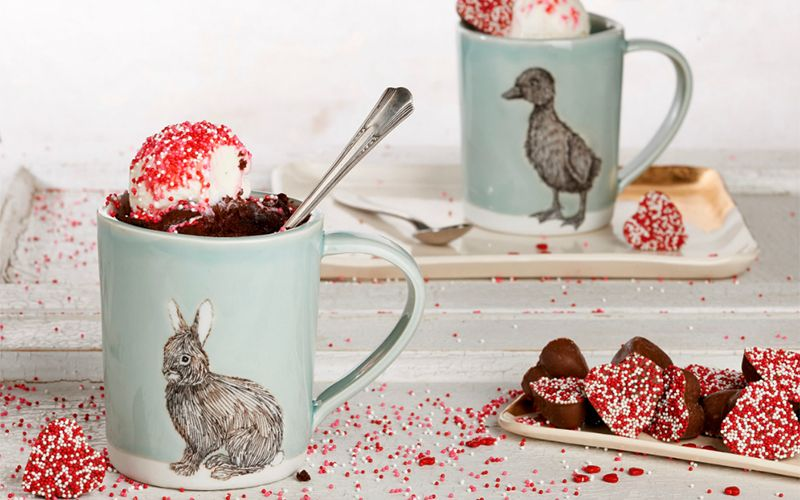 Mug Brownie Recipe - It's love at first bite!