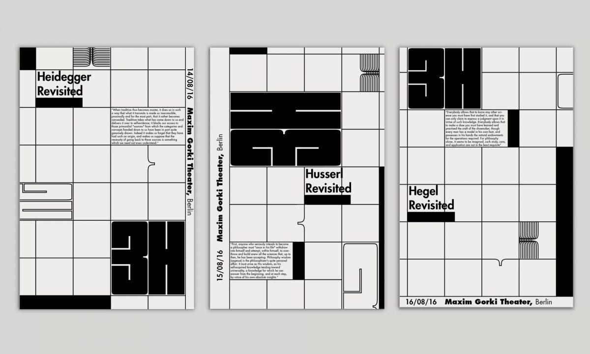 Monochrome Poster Series Deconstructs Key Elements Of Graphic Design Monochrome Posters Poster Series Graphic Design Art