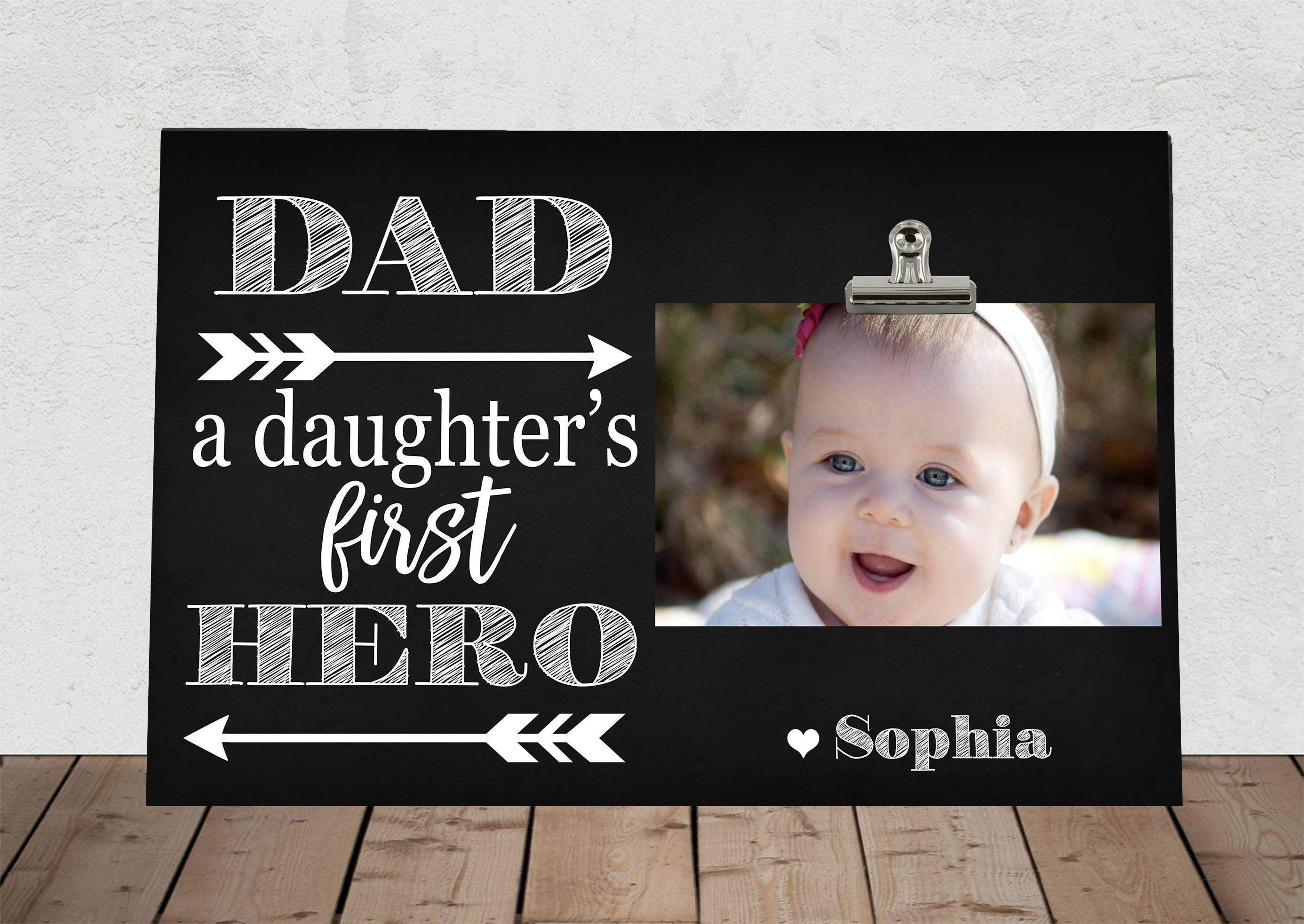 DAD a Daughter\'s First HERO, Perfect for Fathers Day, Stepdad, Daddy ...