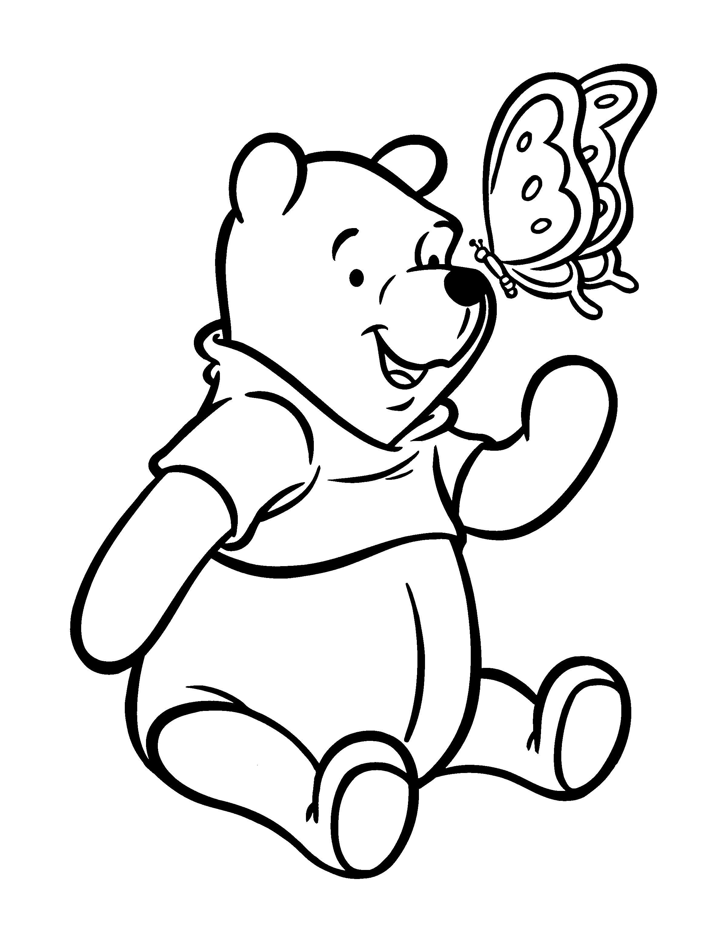 Winnie The Pooh Coloring Pages Bear Coloring Pages Cartoon Coloring Pages Kids Printable Coloring Pages